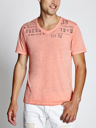 Endless color options, a subtle burnout effect and a stamped typographic logo—you've just found your new live-in-it-comfortable tee.