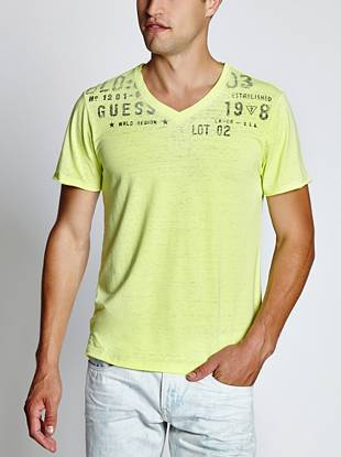 Myer Expedition Stamped V-Neck Tee