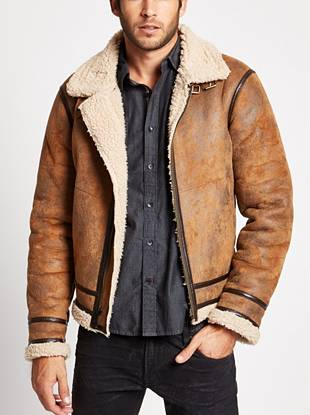 Made to look like an authentic vintage piece, this jacket channels the season's worn-in Western vibe. Allover distressing makes it look like you've owned it for years and the faux-shearling lining keeps you warm and on trend.