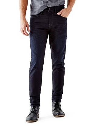 WHY YOU NEED IT: New to our denim lineup, the Regular Taper has a trend-focused slouchy fit that's roomier through the hip and has a dropped crotch. This pair is made with European denim. Great for slim or straight builds.