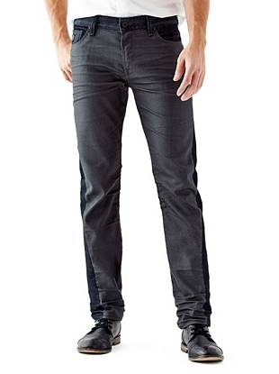 WHY YOU NEED IT: One of our most popular men's fits, the Slim Straight gives you a modern look without being too tight. A pieced contrast design makes this pair perfect for the guy with an edge. Great for all builds.