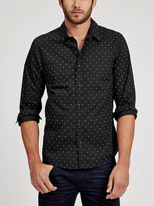 A modern triangle print makes this button-down one of our top picks this season.