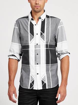 Every guy needs the perfect day-to-night plaid, and this classic-fit button down is exactly that.