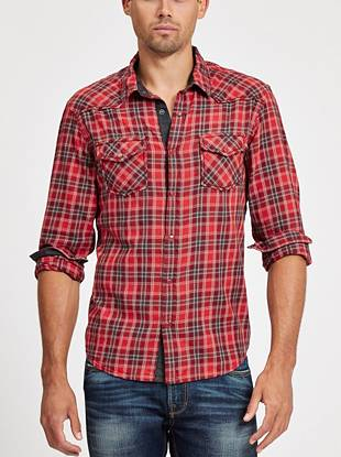 Featuring Western-inspired plaid and a pieced yoke, this shirt the ultimate fall essential. Roll the sleeves up for a more casual, laid-back vibe.