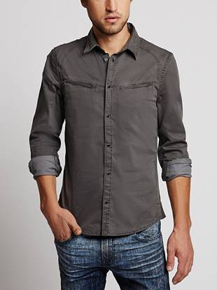 Heavyweight twill and a casual slim fit make this shirt the perfect layering piece for your laid-back looks.