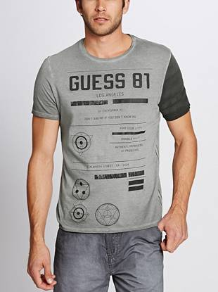 Unique graphic logo art, contrasting short sleeves, a perfect fit and super-soft cotton. Yes, this tee is your new favorite.