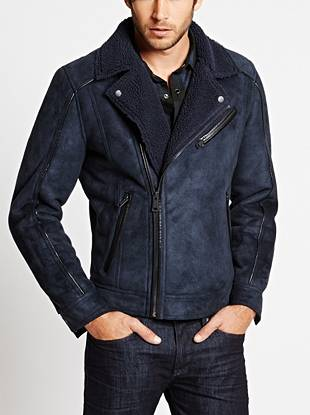 Vintage inspired with modern appeal, this faux-shearling jacket is just what your fall looks need. Faux-leather piping and a moto-inspired design bring subtle edge that embodies a laid-back, rocker vibe.