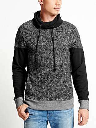 Chris Long-Sleeve Funnel-Neck Sweater