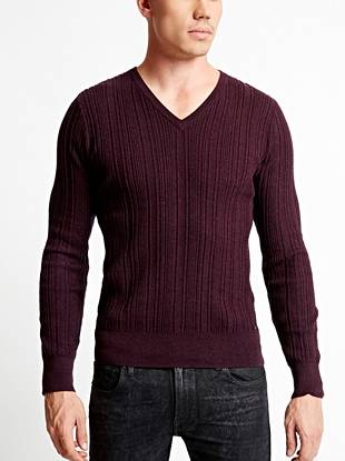 Soft and comfortable cashmere makes this V-neck sweater a closet essential for every guy.