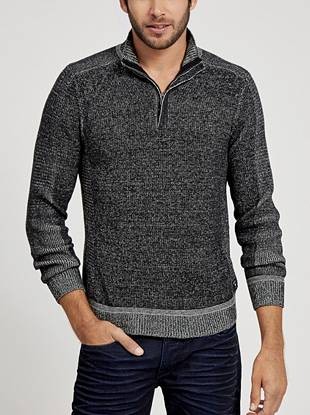Soft marled knit and a modern slim fit make this pull-on sweater the perfect layer for both polished and laid-back looks.