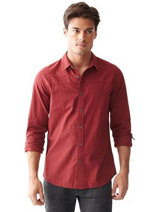 Canal Long-Sleeve Slim-Fit Dobby Shirt
