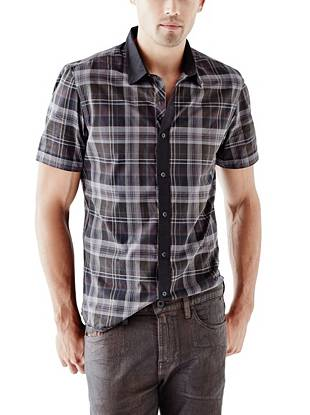 A subtle pop of color and modern pieced design make this shirt ideal for the guy in the know.