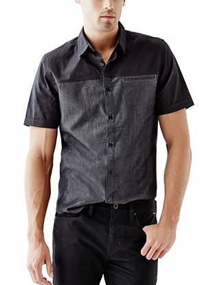 Stylish yet completely understated, this chambray mix shirt brings your everyday looks to the next level.
