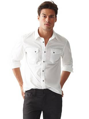 An easy way to look perfectly put together, this button-down works for any occasion, day or night.