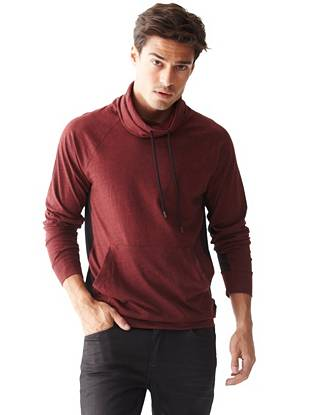Long Sleeve Tees - Jackson Long-Sleeve Funnel-Neck Pullover