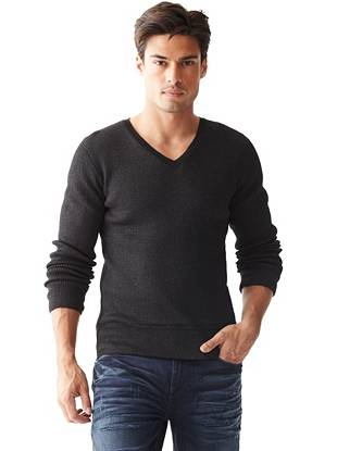 Kevin Long-Sleeve Double-Layer Sweater