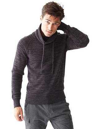Dawson Long-Sleeve Funnel-Neck Sweater