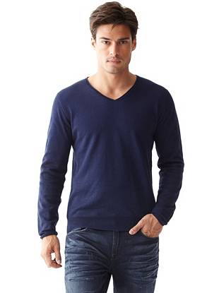 Seth Long-Sleeve Double-Layer Sweater