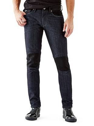 WHY YOU NEED IT: One of our fastest-growing fits, the Slim Taper is slim through the hip and thigh and tapers below the knee for a close-cut look. European denim features a slight sheen and moto-inspired details give this pair a modern, edge-driven vibe. Great for slim or straight builds.