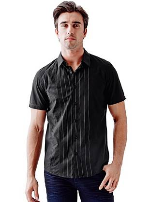 Notthingham Short-Sleeve Pieced Slim-Fit Shirt