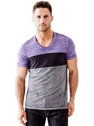 Myer Short-Sleeve Color-Blocked Tee
