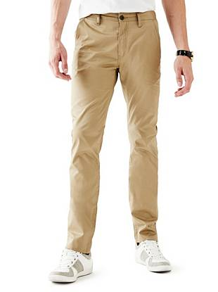 Essential Slim-Tapered Flat-Front Pants