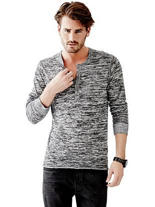 River Long-Sleeve Henley Sweater