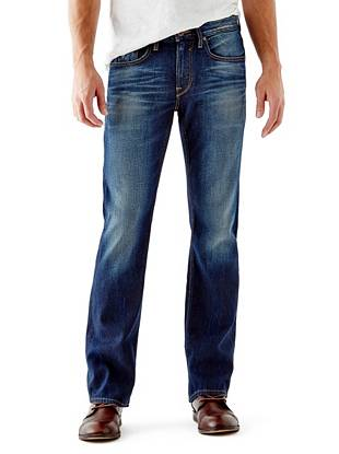 Denim Bootcut Jeans - Regular Bootcut Jeans in Davison Wash