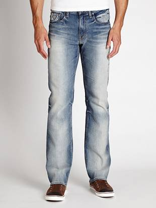 Denim Bootcut Jeans - Regular Bootcut Jeans in Arlington Wash