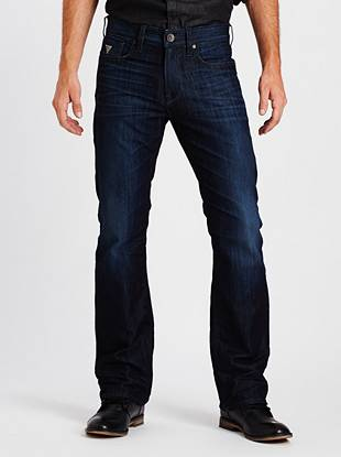 Relaxed Straight Leg Jeans - Relaxed Straight Jeans in Riverfront Wash