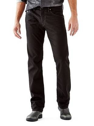 WHY YOU NEED IT: Similar to our popular Slim Straight, the Regular Straight has a slightly higher rise and roomier fit that's great for bigger builds. Soft black denim makes this pair perfect for dressing up or down.