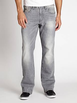 Denim Bootcut Jeans - Regular Bootcut Jeans in Lonesome Wash