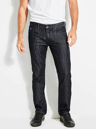 Slim Straight Jeans in Smokescreen Wash