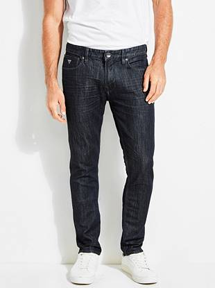 WHY YOU NEED IT: One of our fastest-growing fits, the Slim Taper is slim through the hip and thigh then tapers below the knee for a close-cut look. This pair's made with American denim that features a slight sheen—perfect for dressing up or down. Great for slim and straight builds.