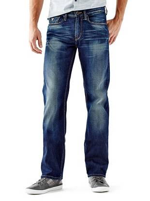 Relaxed Straight Leg Jeans - Relaxed Jeans in Davison Wash