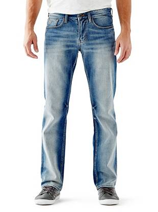 Relaxed Straight Leg Jeans - Relaxed Jeans in Arlington Wash