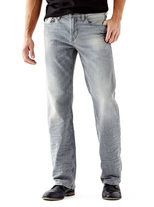 Relaxed Straight Leg Jeans - Relaxed Jeans in Lonesome Wash