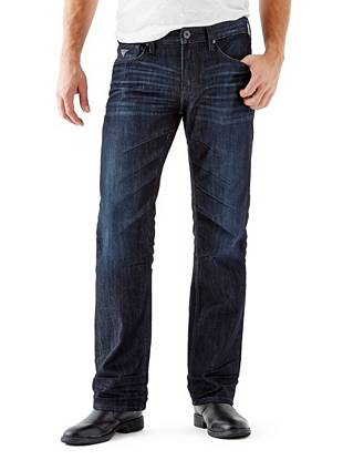 WHY YOU NEED IT: Extra room in the hip and thigh gives our Relaxed jean a laid-back look and comfortable feel. The pair is made with American denim that's washed to a dark indigo shade and features a slight sheen that's perfect for dressing up or down. Great for bigger, more athletic builds.