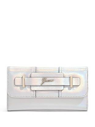 Instantly elevate your style status with this futuristic clutch. Perfect for tucking under your arm or keeping in the matching carryall, it keeps all your essentials close.