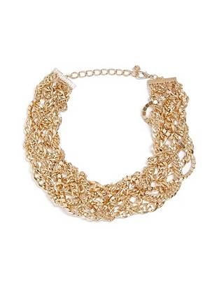 Gold-Tone Woven Statement Necklace