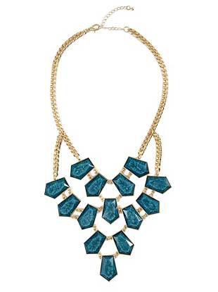 Mia Turquoise-Stone Statement Necklace