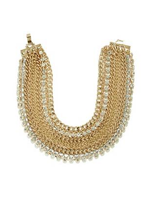 Ilene Chain and Rhinestone Necklace