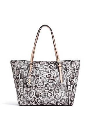 Fashionable and functional, this exotically-detailed tote is one of our key pieces this season. The covetable snow leopard print is finished with a python-embossed exterior, making it a go-to for the daring style-setter.