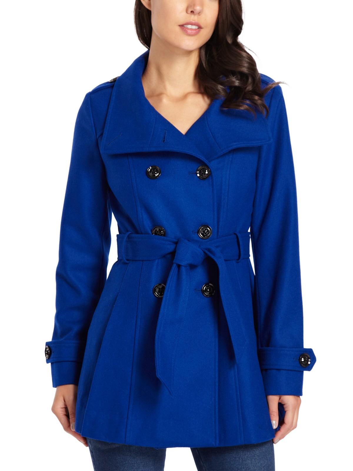 Guess Aubrey Wool Trench Coat Ebay