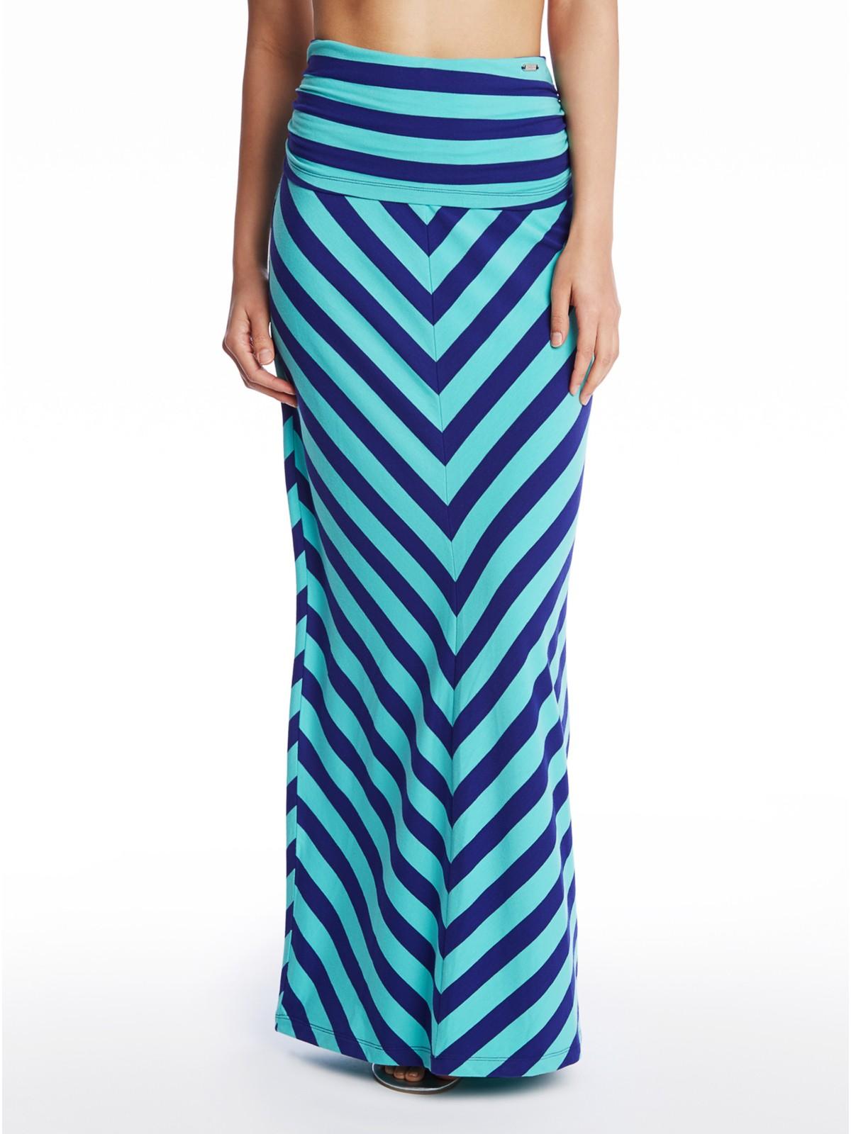 guess sansa chevron striped maxi skirt ebay