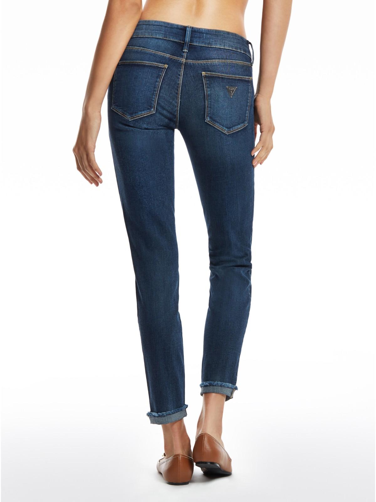 GUESS Malene Frayed-Hem Skinny Jeans