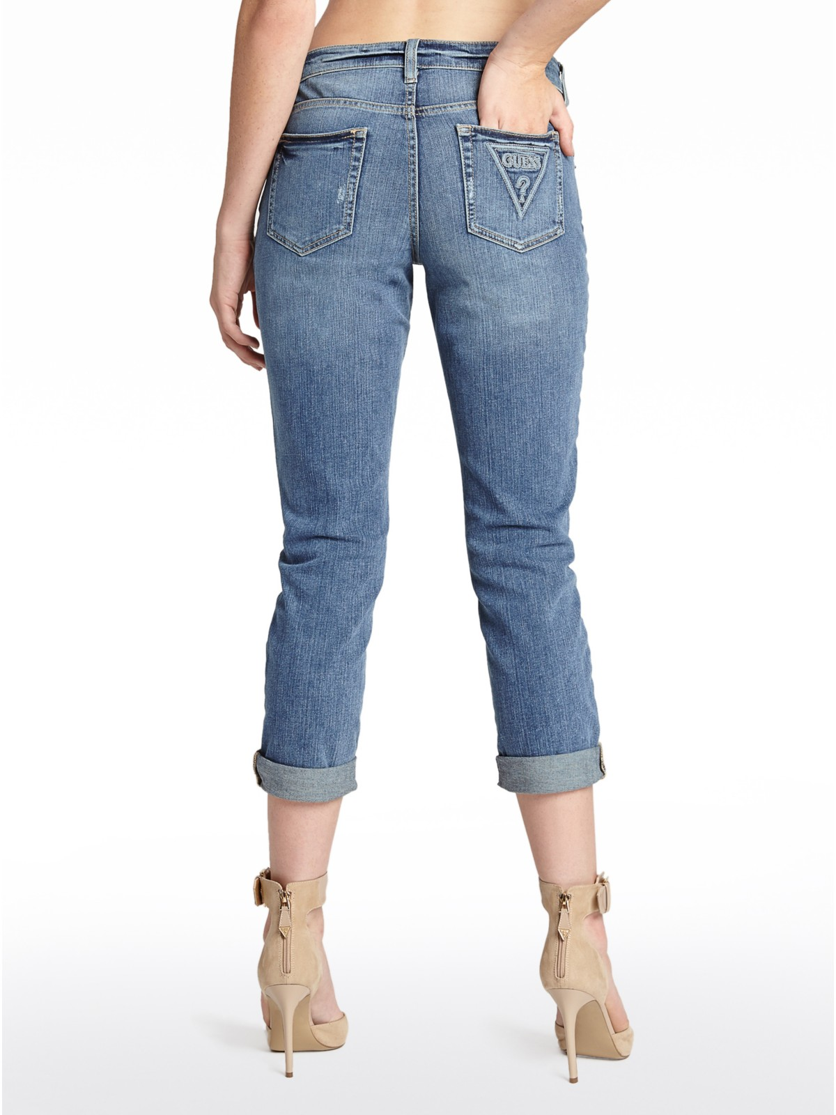 Women's Jeans If you look in any women's closet, you will find at least one pair of jeans. There are many different types of jeans on the market, like skinny jeans, straight jeans, and boyfriend jeans, so any woman can find the right pair for her body.