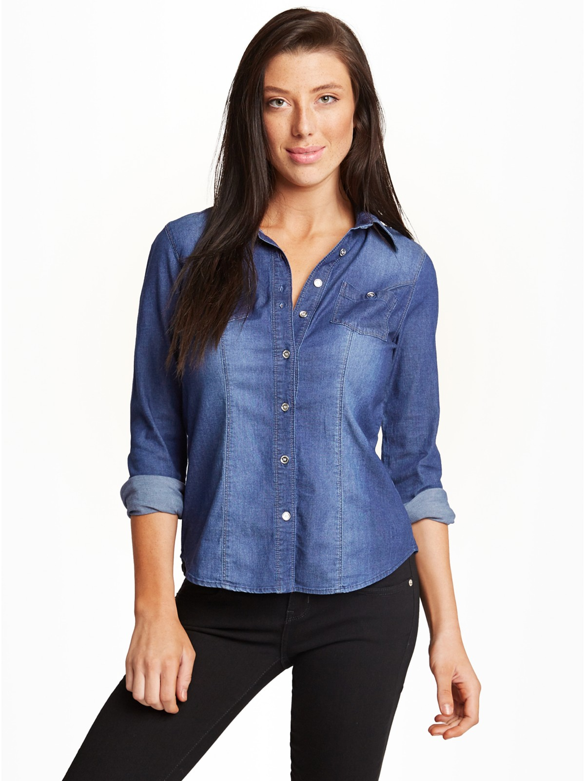 GUESS Women's Jane Denim Shirt | eBay