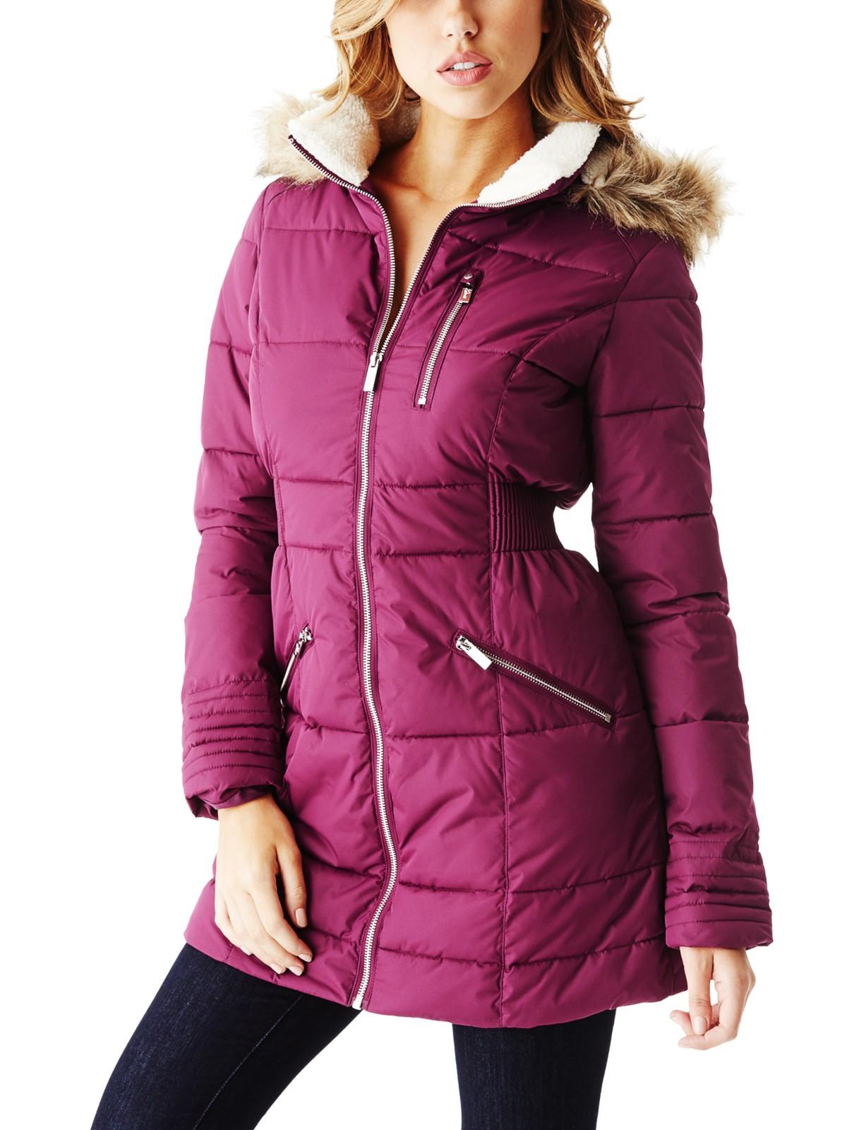 Guess Women S Clairine Long Puffer Coat Ebay