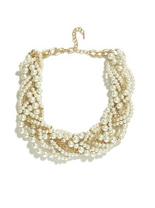 Elana Pearl-Bead Statement Necklace